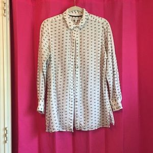 Black & White Polkadot Button Down Foxcroft
